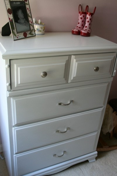 white freecycle dresser