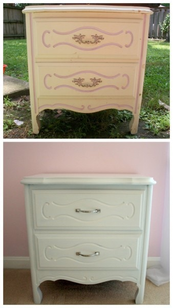 freecycle dresser before and after paint