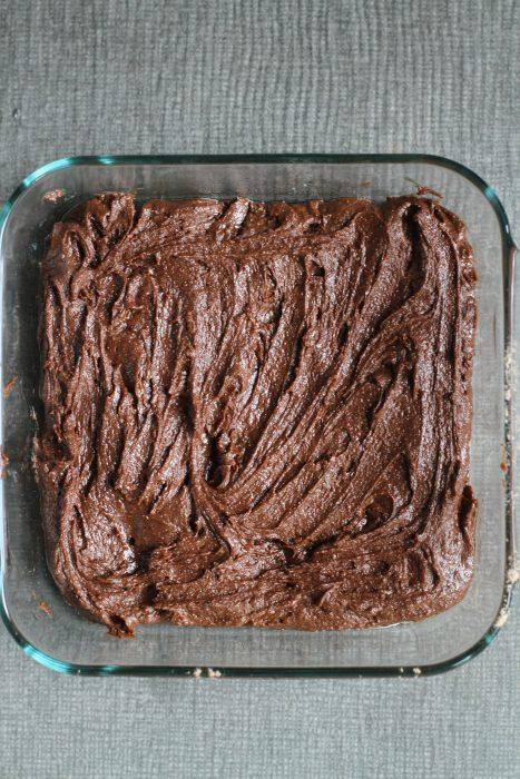 unbaked brownie batter