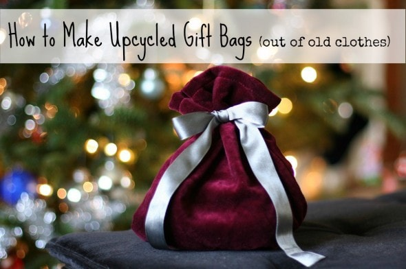 How to make cloth gift bags from old clothes - The Frugal Girl
