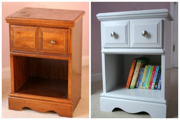 nightstand before and after