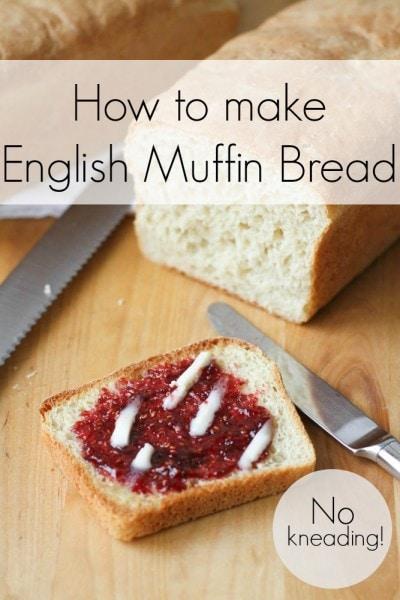 Ako urobiť no-hniesť anglický muffin chlieb