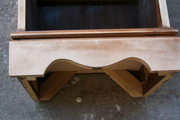 sanded nightstand bottom