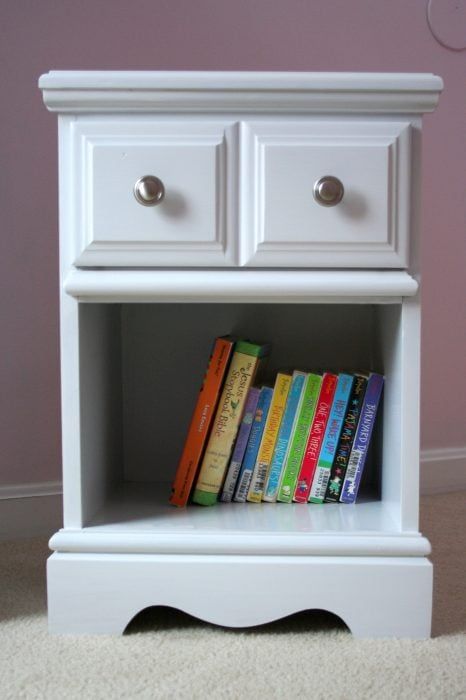 painted white nightstand