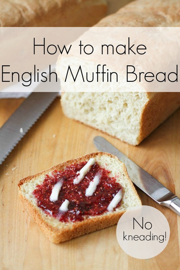 How to make no-knead English muffin bread
