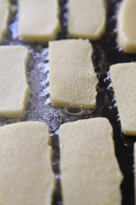 slices of cornmeal mush