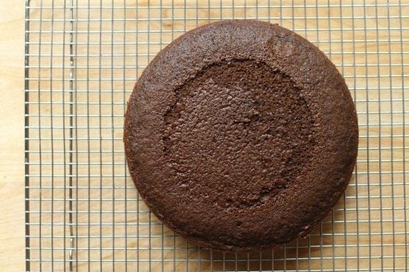 homemade chocolate layer cake