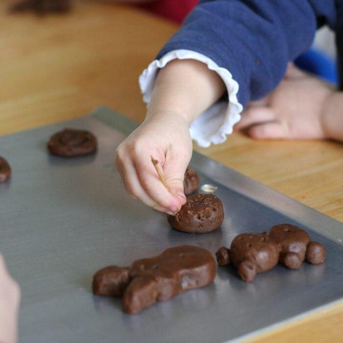 Chocolate cookie bears