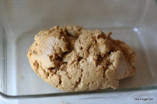 peanut butter bars in a dish