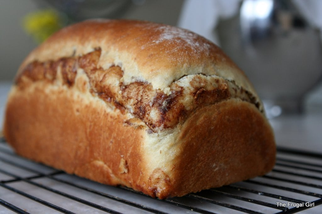 Wednesday Baking | Oatmeal Cinnamon Bread - The Frugal Girl