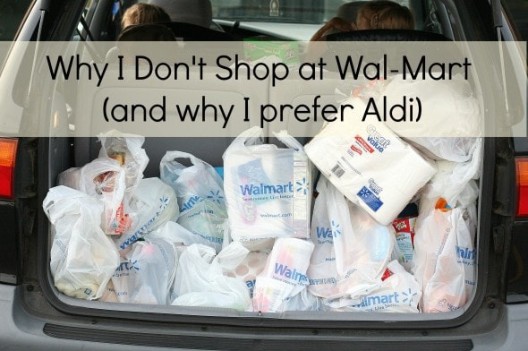 Why I Don\'t Shop At Walmart (and why I prefer Aldi) - The Frugal Girl