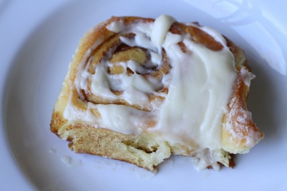 homemade cinnamon bun