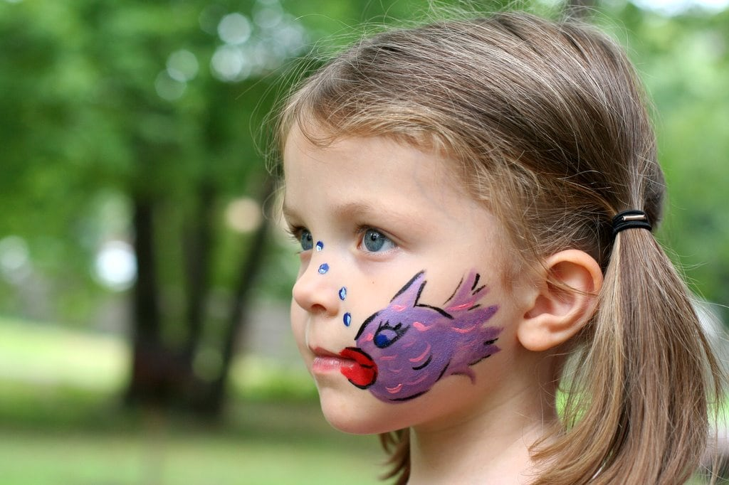 Face painting the frugal girl for Easy fish painting