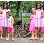 Girls in pink, Goodwill-style