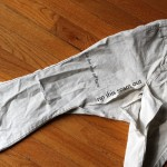 Pants to Ruffly Skirt Tutorial