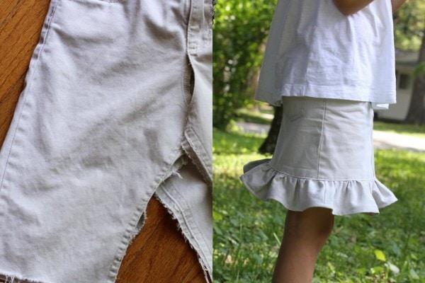 pants to ruffly skirt