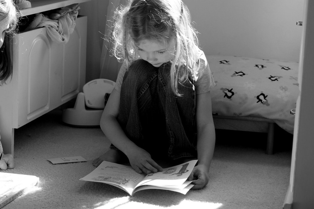 homeschooling a black and white photo essay the frugal girl reading