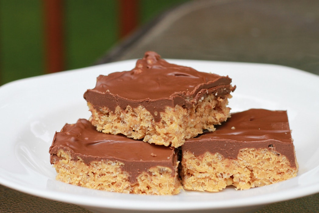 ... | Peanut Butter-Butterscotch-Chocolate Cereal Bars - The Frugal Girl