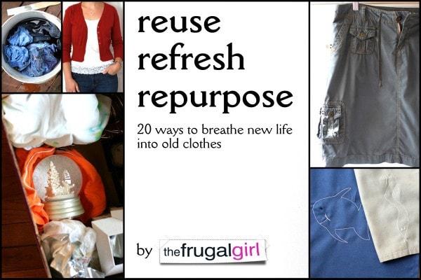 Reuse, Refresh, Repurpose - fun DIY projects for kids & teens {Weekend Links} from HowToHomeschoolMyChild.com