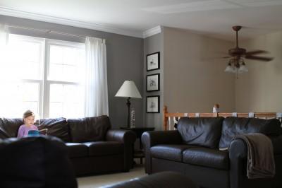 Ikea brown leather Ektorp sofa