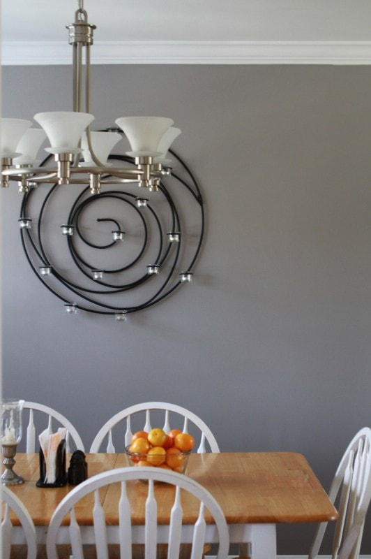grey living room and dining room