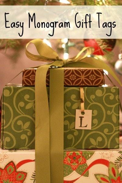 mongram gift tags