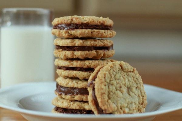 chocolate oatmeal sandwich cookies