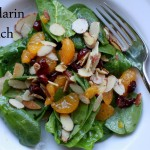 Mandarin Spinach Salad with Sugared Almonds