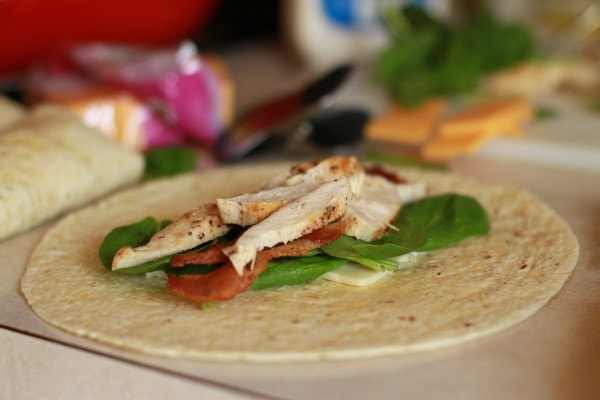 bacon chicken wraps