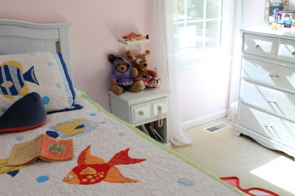 zoe's white painted bed