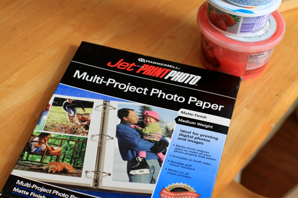 Matte photo paper in a package.