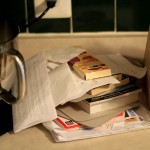 Two paper piles
