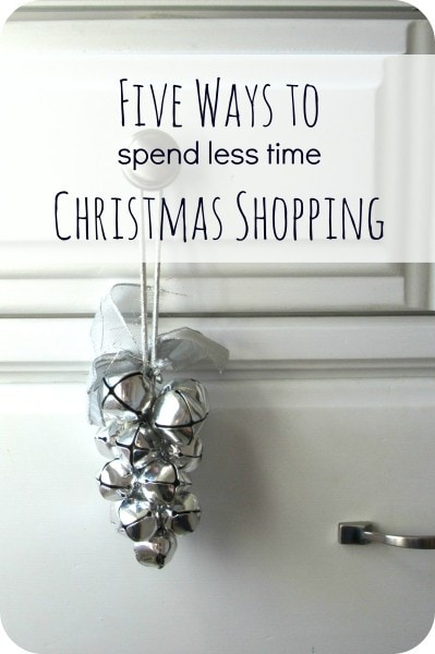 Five ways to spend less time Christmas shopping
