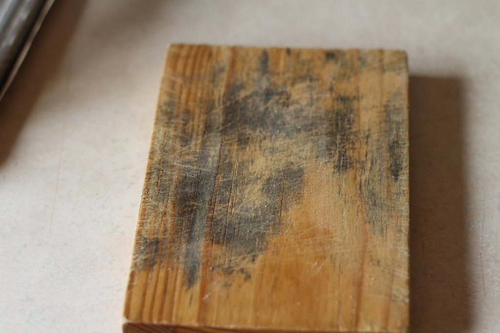 How to get rid of black cutting board mildew - The Frugal Girl