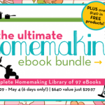 The Ultimate Homemaking Ebook Bundle is for sale! Today! Woo!