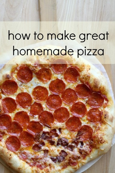 how to make great homemade pizza the frugal girl