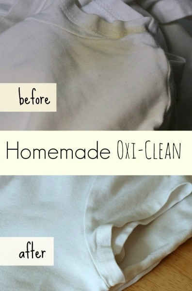 Homemade Oxi-Clean for Armpit Stains