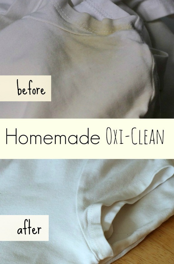 Homemade oxi clean for armpit stains the frugal girl for Remove deodorant stains from shirt armpits