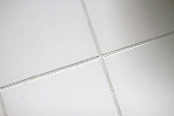 You guys. Tile grout paint = amazing. - The Frugal Girl