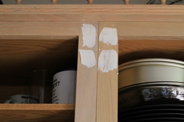fill hinge holes with spackle