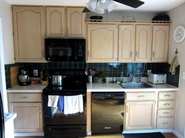 before and after painted kitchen cabinets