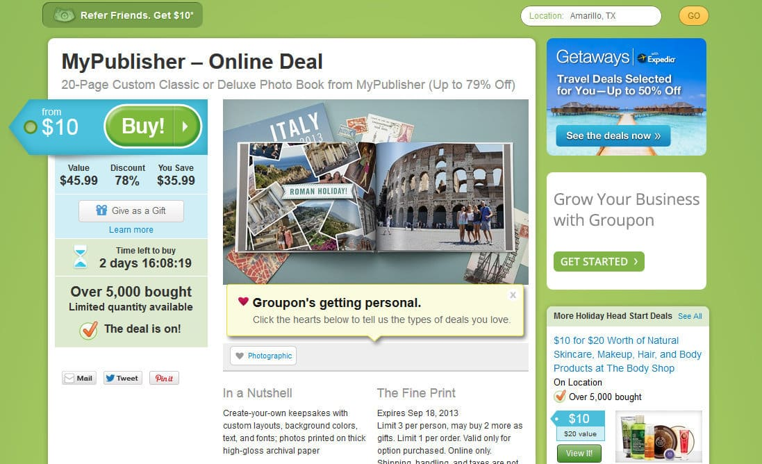 types of deals and publishers in