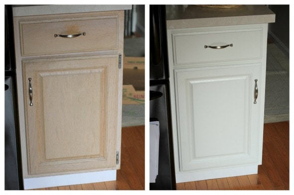 The After Painting Cabinet Photos The Frugal Girl