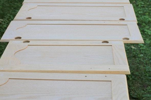 sanded cabinet doors