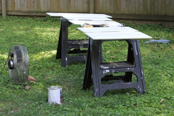 sawhorses for painting cabinets