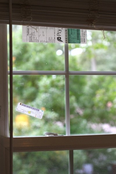 replacement window pane installed