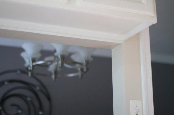 painted fake wood laminate cabinet