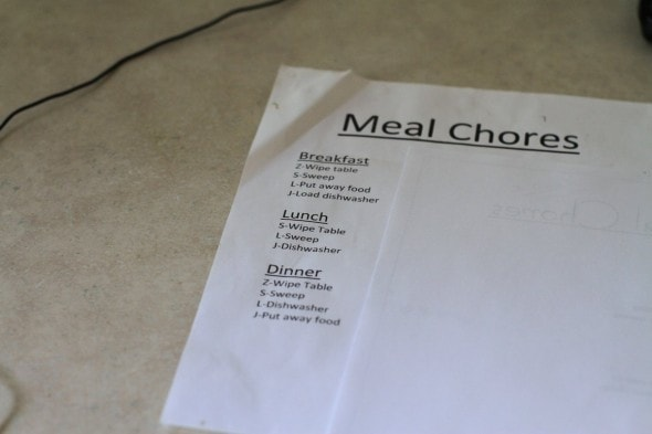 old meal cleanup plan