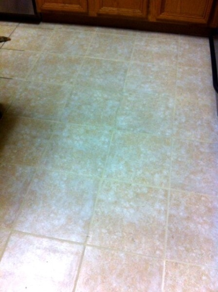 tile after Grout Renew