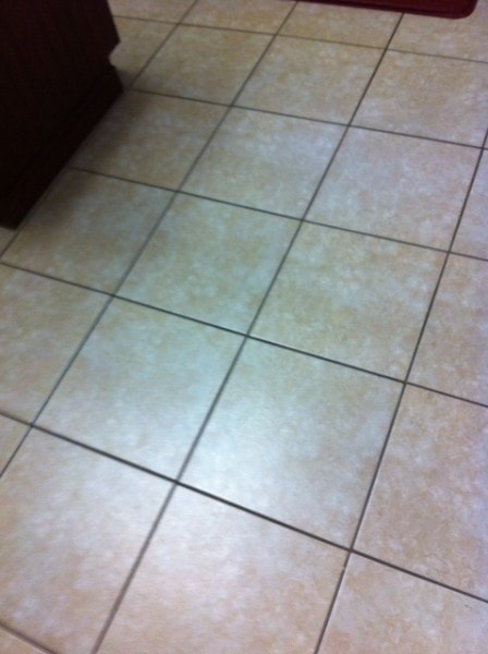 tile before Grout Renew